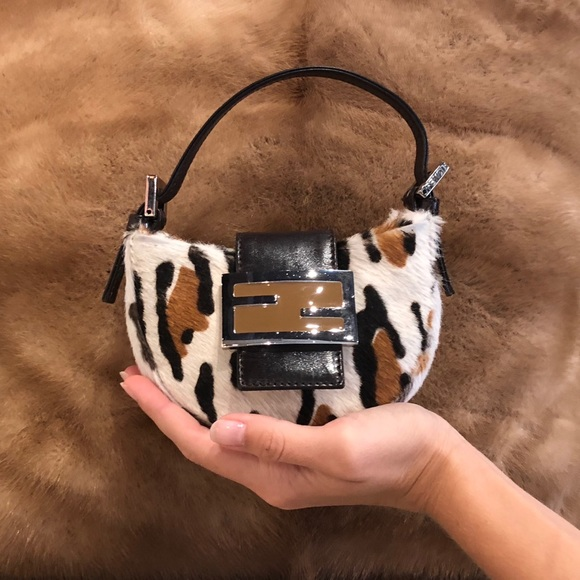 d46058d03b Fendi Handbags - Authentic Fendi pony hair mini croissant purse